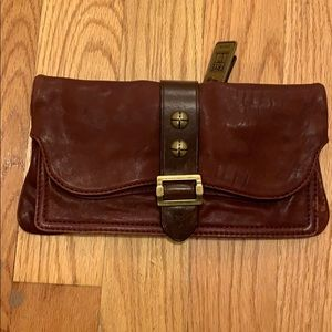 NWOT Frye Brown Leather Clutch